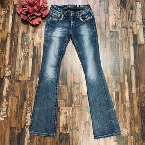 MISS ME | Bling Pocket Bootcut Jeans | 28